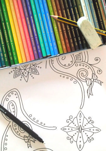 disegno fatto a mano da colorare