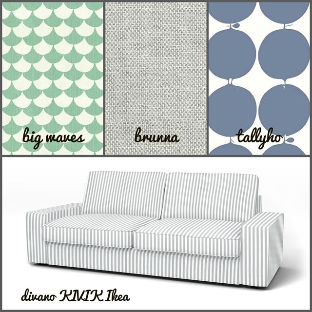 combinazione fodere divano Ikea e cuscini Bemz