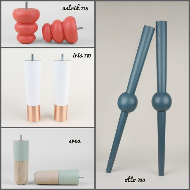 piedini e gambe pretty pegs per personalizzare imbottiti Ikea e credenze