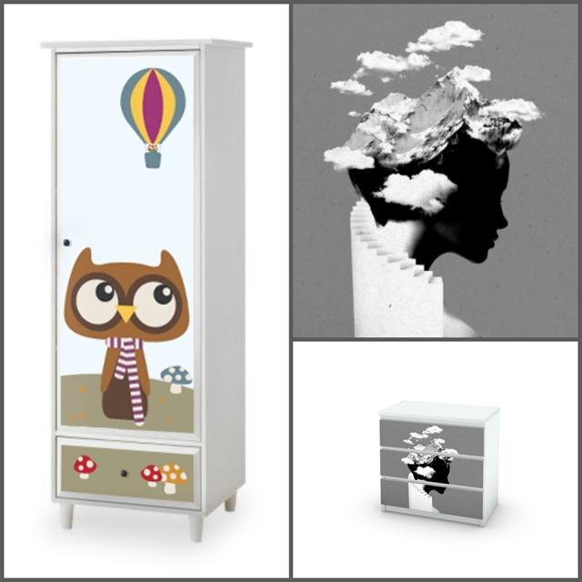 personalizzare i mobili della cameretta ikea con stickers