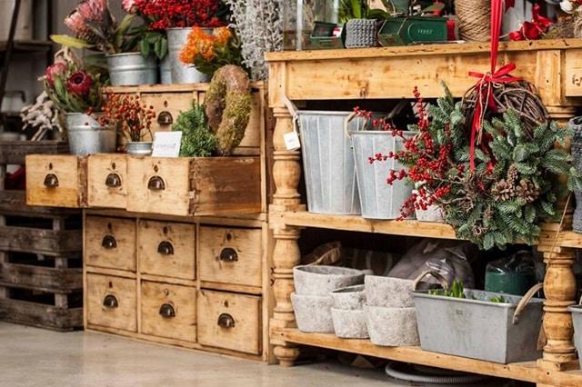 locali di design scorcio del negozio di fiori