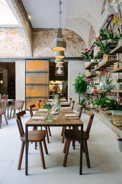 locali di design - concept restaurant La Menagere: ristorante