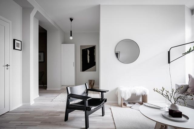 dettaglio living appartamento nordic style Stoccolma