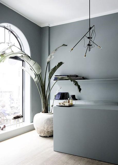 Colore delle pareti: tonalità fredda per il living