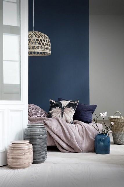 Colore delle pareti: blu