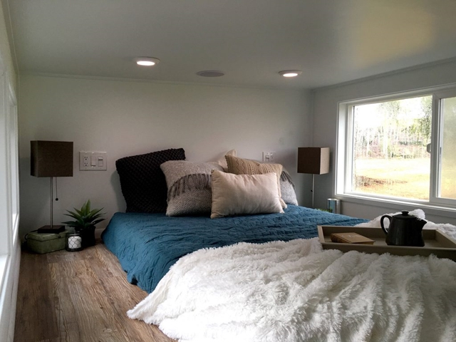 camera da letto su soppalco piccola casa