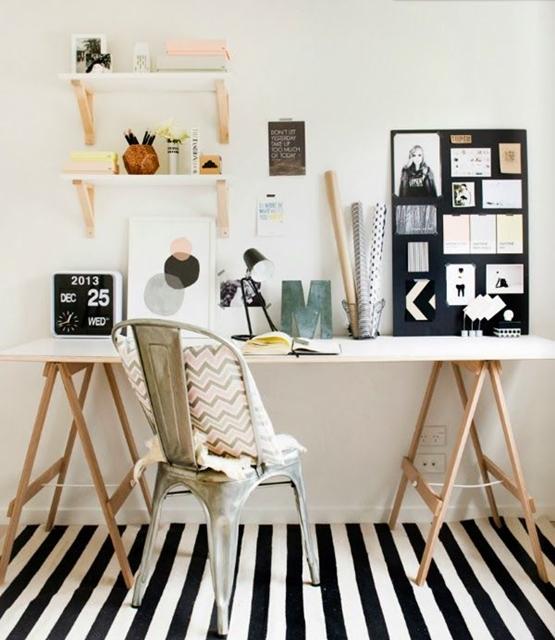 creare-angolo-studio-scrivania-cavalletti