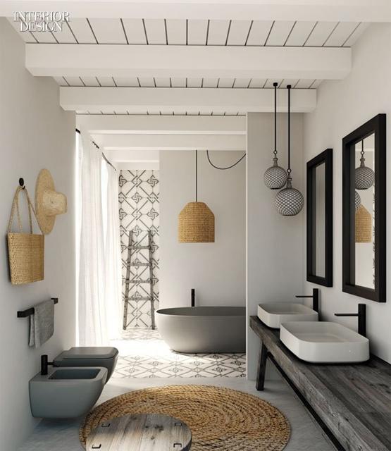 rinnovare il bagno usando colori neutri ed elementi di design