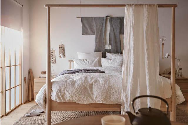 camera da letto in stile giapponese del nuovo catalogo ikea 2018