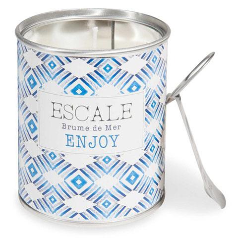 candela in metallo con stampe a motivi blu maison du monde per la casa autunno