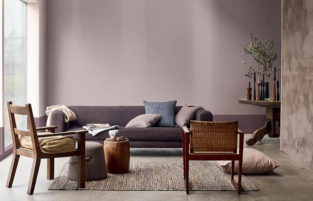 la tendenza casa è il colore heartwood per il living