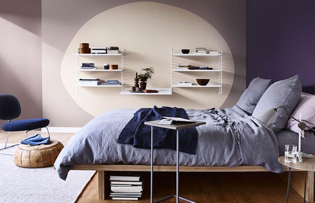 la tendenza casa è il colore heartwood per la camera da letto