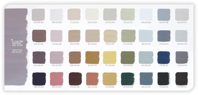 palette colori abbinati con heartwood con i codici ral