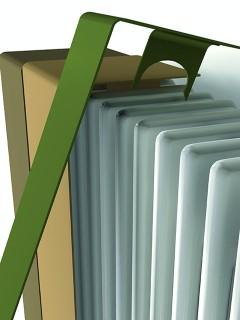 rendere i termosifoni degli elementi d'arredo con cover colorate verdi