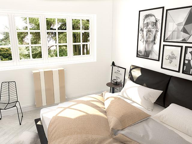rendere il termosifone della camera da letto un elemento di design