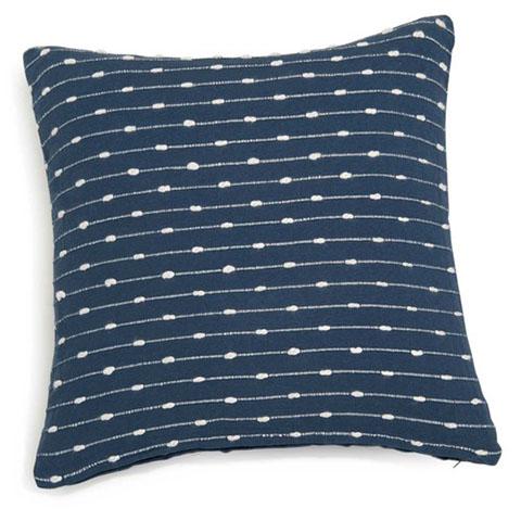 cuscino in cotone blu con motivi bianchi maison du monde