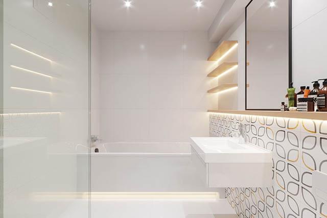 home-tour design appartamento piccolo giovanile bagno con vasca