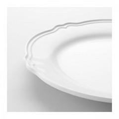 piatto bianco ikea per la mise en place di una tavola autunnale