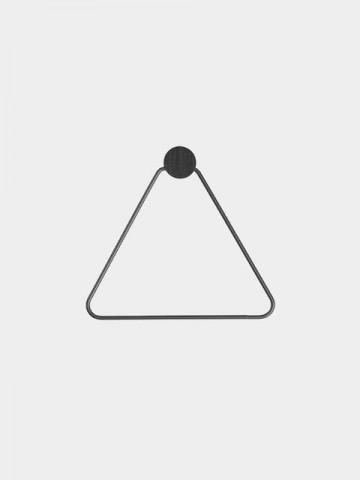 tendenza bagno accessori neri stile scandinavo porta rotolo a triangolo