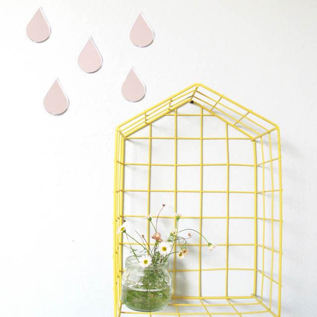 gocce a specchio per decorare la parete