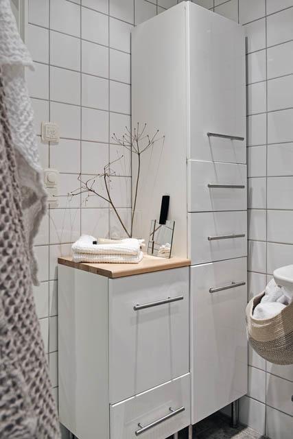 bagno bianco luminoso