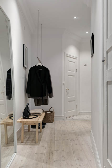 corridoio luminoso tutto bianco