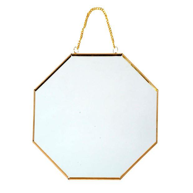specchio esagonale oro casashop