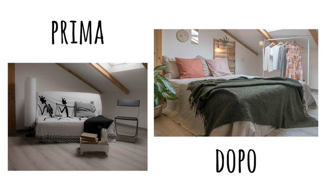 prima e dopo intervento di home-staging