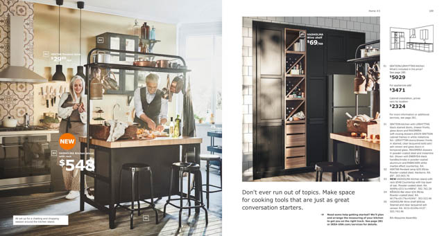 penisola cucina nera ikea 2019