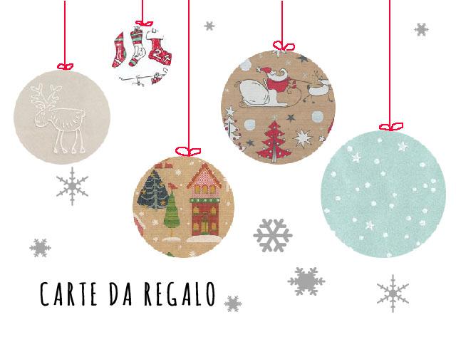 carte da regalo tema natalizio