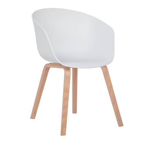 sedia yah bianca in legno stile nordico