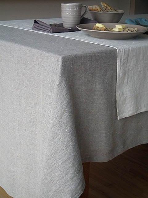 tovaglia in lino grigio naturale