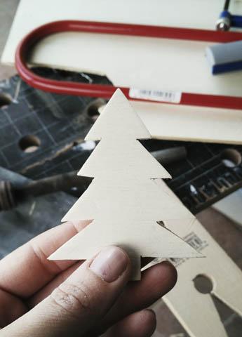 sagoma in legno albero di natale